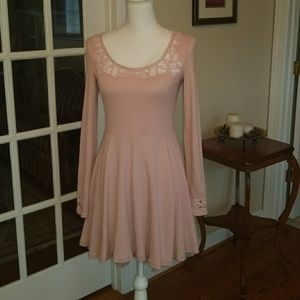 Free People pink lace summer dress small